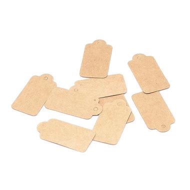 Kraft labels mini 1.5 x 3 cm