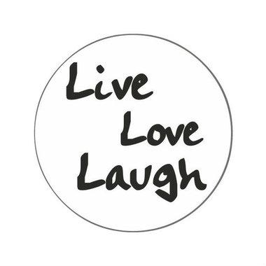 Ronde stickers live love laugh 10 stuks