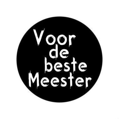 Ronde stickers voor de beste meester 10 stuks