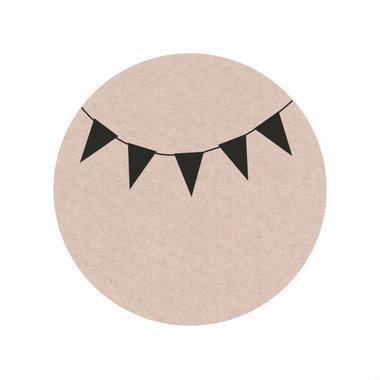 Ronde stickers slinger 10 stuks