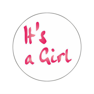 Ronde stickers it's a girl 10 stuks