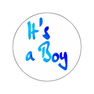 Ronde stickers it's a boy 10 stuks