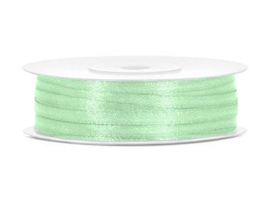 Pastel groen satijn lint 3 mm breed