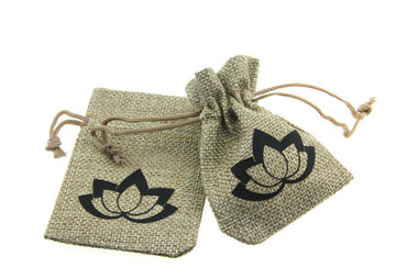 Jute zakjes lotus 7 x 9 cm