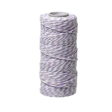 Bakkerstouw lavendel wit 90 meter