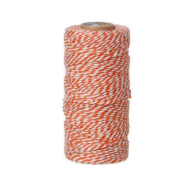 Bakkerstouw oranje wit 90 meter