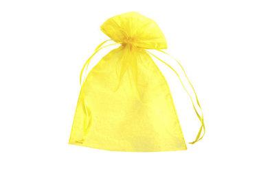 Organza zakjes 7.5 x 10 cm geel