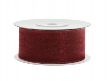Organza lint 38 mm Bordeaux rood