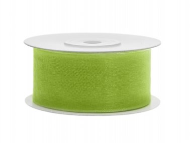 Organza lint 38 mm Lime groen