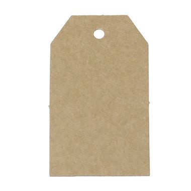 Kraft label 4 x 7 cm 10 stuks