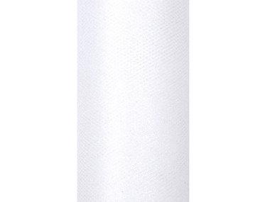 Tule lint wit glitter 15 cm breed