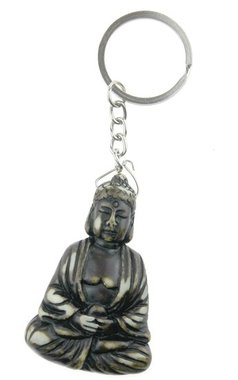 Boeddha meditatiehouding sleutelhanger