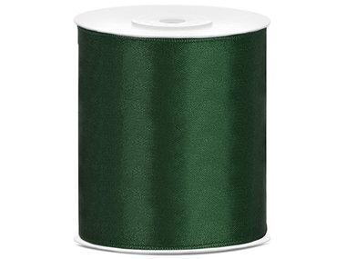 Donker groen satijn lint 10 cm breed