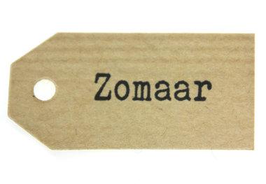 Kraft label zomaar