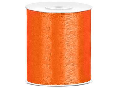 Oranje satijn lint 10 cm breed