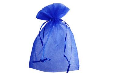 Organza zakje 10 x 15 cm blauw