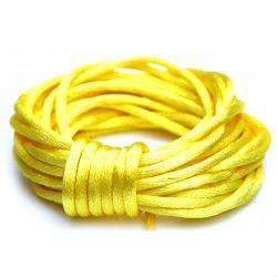 Satijnkoord 2 mm geel