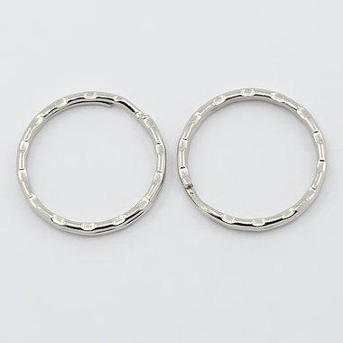 Sleutelhanger ringen 25 mm 10 stuks