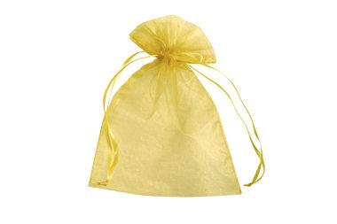 Organza zakjes 5 x 7 cm goud