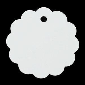 Label wit rond geschulpt 10 stuks