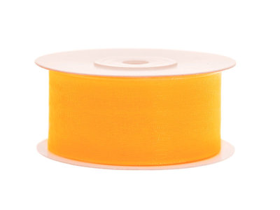 Organza lint 38 mm geel